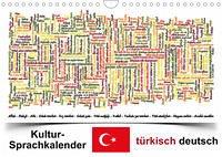 Kultur-Sprachkalender Türkisch-Deutsch (Wandkalender 2022 DIN A4 quer)