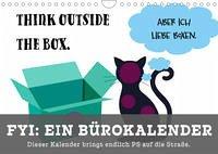 FYI: Ein Bürokalender - Dieser Kalender bringt endlich PS auf die Straße (Wandkalender 2022 DIN A4 quer) - Schreiber, Leonie