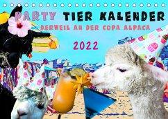 Party Tier Kalender (Tischkalender 2022 DIN A5 quer)