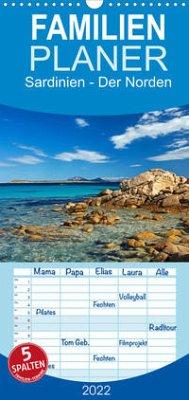 Sardinien - Der Norden - Familienplaner hoch (Wandkalender 2022 , 21 cm x 45 cm, hoch)