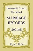 Somerset County, Maryland Marriage Records, 1796-1871
