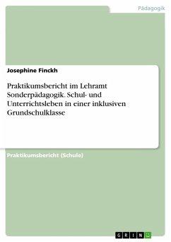 Praktikumsbericht im Lehramt Sonderpädagogik. Schul- und Unterrichtsleben in einer inklusiven Grundschulklasse (eBook, PDF)