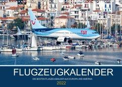 Flugzeugkalender - Die besten Flugzeugbilder aus Europa und Amerika (Wandkalender 2022 DIN A3 quer)