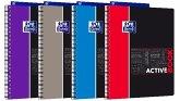 OXFORD Studium A4+ Polypropylen doppelspiralgebundenes Activebook, 5 mm kariert, 80 Blatt, SCRIBZEE® kompatibel, 1 Stück sortiert