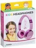 Pebble Gear - KIDS HEADPHONES, Kinder-Kopfhörer, Stereo, pink