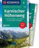 KOMPASS Wanderführer Karnischer Höhenweg, Von Thörl-Maglern nach Sillian, Mit Varianten und Gipfeln 1:35 000