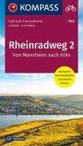 Fahrrad-Tourenkarte Rheinradweg 2, Von Mannheim nach Köln