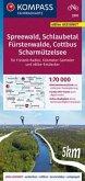 KOMPASS Fahrradkarte Spreewald, Schlaubetal, Fürstenwalde, Cottbus, Scharmützelsee 3370