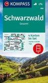 KOMPASS Wanderkarte Schwarzwald Gesamt
