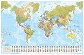 MARCO POLO Weltkarte - Staaten der Erde mit Flaggen 1:35 000 000, Poster