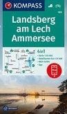 KOMPASS Wanderkarte Landsberg am Lech, Ammersee