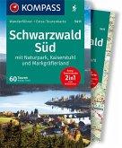 KOMPASS Wanderführer Schwarzwald Süd mit Naturpark, Kaiserstuhl und Markgräflerland
