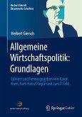 Allgemeine Wirtschaftspolitik: Grundlagen