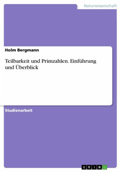 Teilbarkeit und Primzahlen. Einführung und Überblick (eBook, PDF)