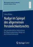 Nudge im Spiegel des allgemeinen Persönlichkeitsrechts (eBook, PDF)