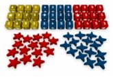 Pegasus PHA50866 - Europe Divided, Wooden Dice and Meeples Set