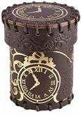 Pegasus QWOCST02 - Dice Cup, Steampunk, Leather, Brown & Golden, Würfelbecher