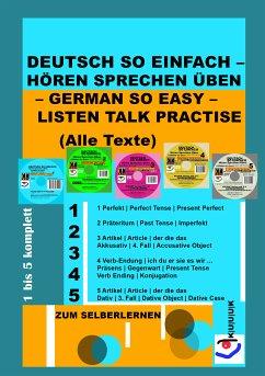 Deutsch So Einfach – Hören Sprechen Üben – German So Easy – Listen Talk Practise (Alle Texte) (eBook, ePUB) - Jans, Klaus