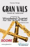 Gran Vals - Woodwind Quartet (SCORE) (eBook, ePUB)
