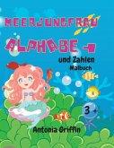Meerjungfrau Alphabet und Zahlen Färbung Buch