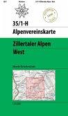 Zillertaler Alpen West - Historische Karte