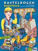 Baustelle Bastelbogen mit Baufahrzeugen & Papiermechanik