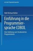 Einführung in die Programmiersprache COBOL (eBook, PDF)