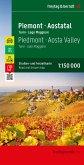 Piemont, Straßen- und Freizeitkarte, 1:150.000, freytag & berndt