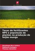 Taxas de fertilizantes NPS e população de plantas na produção de feijão mungo