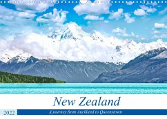 A journey from Auckland to Queenstown (Wall Calendar 2022 DIN A3 Landscape)