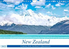 A journey from Auckland to Queenstown (Wall Calendar 2022 DIN A4 Landscape)