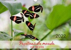 Papillons du monde, vus de près (Calendrier mural 2022 DIN A3 horizontal)