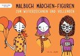 Malbuch Mädchen-Figuren