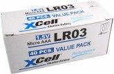 1x40 XCell Performance Micro AAA Alkaline LR03 XLR03-4S