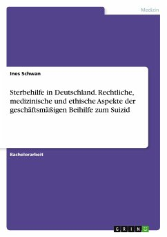 Sterbehilfe in Deutschland. Rechtliche, medizinische und ethische Aspekte der geschäftsmäßigen Beihilfe zum Suizid