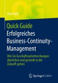 Quick Guide Erfolgreiches Business-Continuity-Management (eBook, PDF)