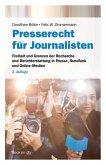 Presserecht für Journalisten (eBook, ePUB)