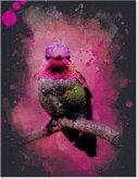 Vögel auf Instagram Großes Notizheft (A5) Motiv Rosa Annakolibri