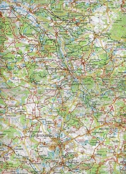 Fränkische Schweiz Karte.Fritsch Karte Naturpark Fränkische Schweiz Blatt Süd