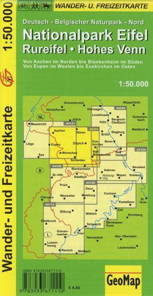 Karte Eifel.Geomap Karte Nationalpark Eifel Rureifel Hohes Venn