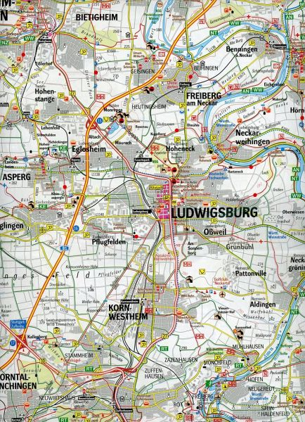 geomap karte freizeitregion stuttgart und umgebung landkarten portofrei bei b. Black Bedroom Furniture Sets. Home Design Ideas