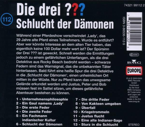 Haus Der Dämonen: Schlucht Der Dämonen / Die Drei Fragezeichen