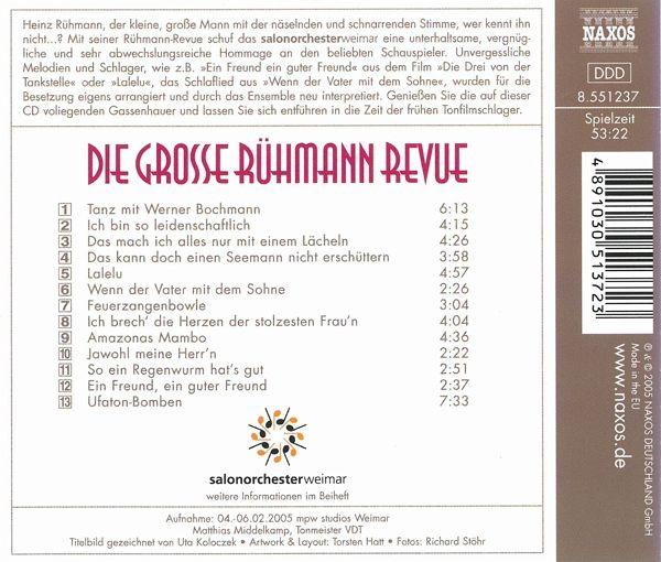 Various Die Rühmann Revue