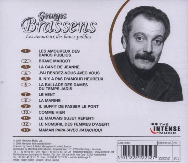 Les amoureux des bancs publics von georges brassens cd - Les amoureux des bancs publics brassens ...