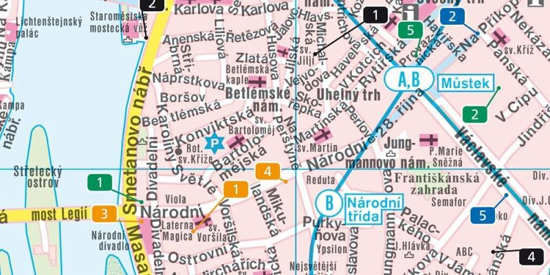 Prag Karte Offentliche Verkehrsmittel.Freytag Berndt Stadtplan Prag Prague Praga Praha