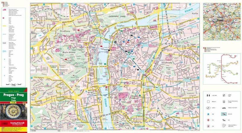 Prag Karte Sehenswurdigkeiten.Freytag Berndt Stadtplan Prag Prague Praga Praha
