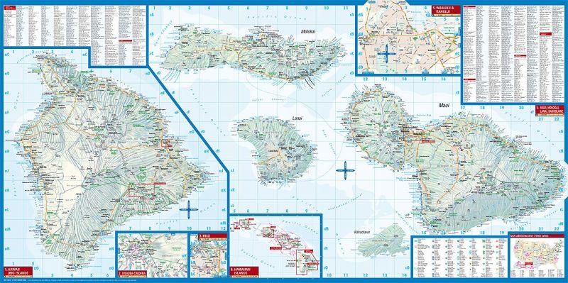 Borch Map Hawaiian Islands - Landkarten portofrei bei bücher.de