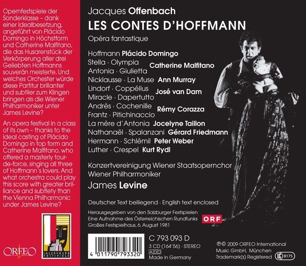 Les Contes D'Hoffmann von Domingo, Malfitano, Murray, Van Dam ...