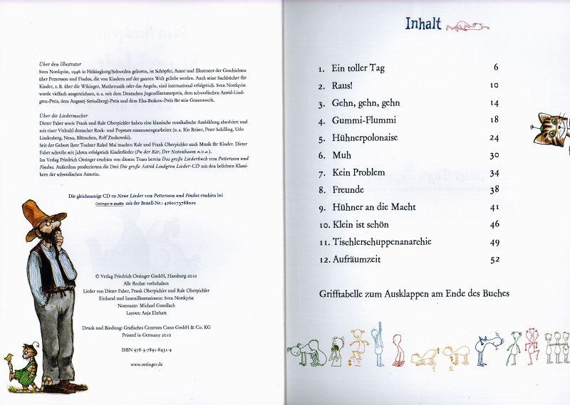 neue lieder von pettersson und findus von sven nordqvist buch. Black Bedroom Furniture Sets. Home Design Ideas