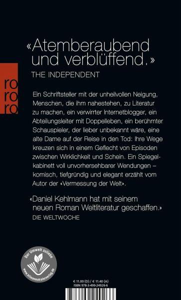 Ruhm von Daniel Kehlmann als Taschenbuch - Portofrei bei